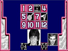 In game image of Mike Read's Computer Pop Quiz on the Commodore Amiga.
