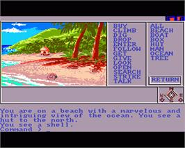 In game image of Mindshadow on the Commodore Amiga.