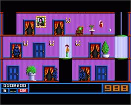 In game image of Mission Elevator on the Commodore Amiga.