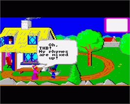 In game image of Mixed-Up Mother Goose on the Commodore Amiga.