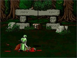 In game image of Moonstone: A Hard Days Knight on the Commodore Amiga.