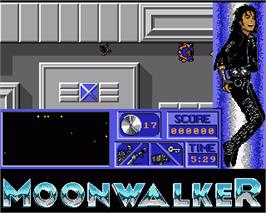 In game image of Moonwalker on the Commodore Amiga.