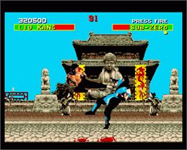 In game image of Mortal Kombat II on the Commodore Amiga.