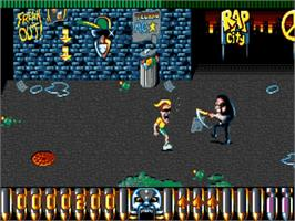 In game image of Motorhead on the Commodore Amiga.