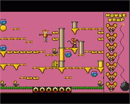In game image of Mouse Trap on the Commodore Amiga.