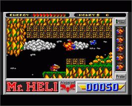 In game image of Mr. Heli on the Commodore Amiga.