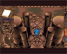In game image of Mystical on the Commodore Amiga.