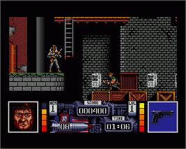 In game image of Navy Seals on the Commodore Amiga.