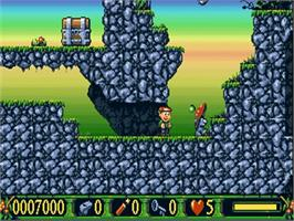 In game image of Nicky 2 on the Commodore Amiga.
