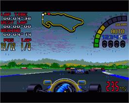 In game image of Nigel Mansell's World Championship on the Commodore Amiga.