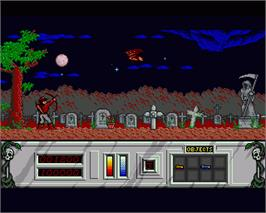 In game image of Night Hunter on the Commodore Amiga.