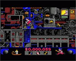 In game image of Night Shift on the Commodore Amiga.