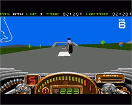 In game image of No Second Prize on the Commodore Amiga.