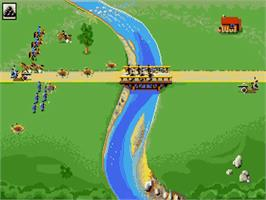In game image of North & South on the Commodore Amiga.