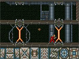 In game image of Obliterator on the Commodore Amiga.