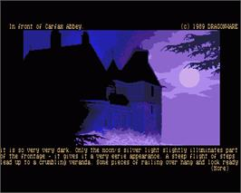 In game image of Ooze: Creepy Nites on the Commodore Amiga.