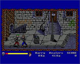 In game image of Operation: Cleanstreets on the Commodore Amiga.