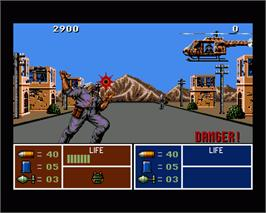 In game image of Operation Thunderbolt on the Commodore Amiga.