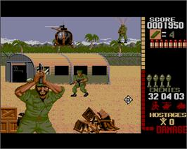 In game image of Operation Wolf on the Commodore Amiga.