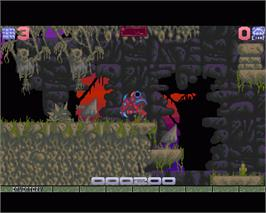 In game image of Ork on the Commodore Amiga.