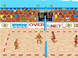 In game image of Over the Net on the Commodore Amiga.