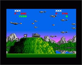 In game image of P-47 Thunderbolt: The Freedom Fighter on the Commodore Amiga.