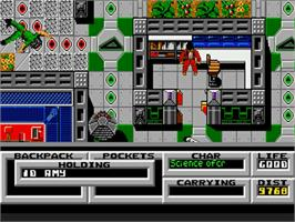 In game image of Pandora on the Commodore Amiga.