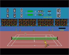 In game image of Passing Shot on the Commodore Amiga.