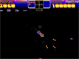 In game image of Photon Storm on the Commodore Amiga.