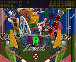 In game image of Pinball Fantasies on the Commodore Amiga.