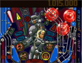 In game image of Pinball Illusions on the Commodore Amiga.
