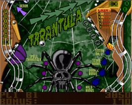 In game image of Pinball Mania on the Commodore Amiga.