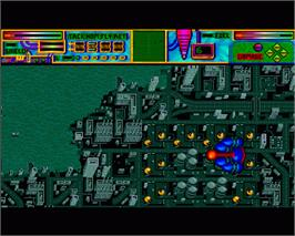 In game image of Pioneer Plague on the Commodore Amiga.