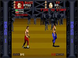 In game image of Pit Fighter on the Commodore Amiga.