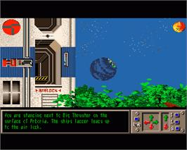 In game image of Planet of Lust on the Commodore Amiga.