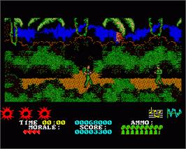 In game image of Platoon on the Commodore Amiga.
