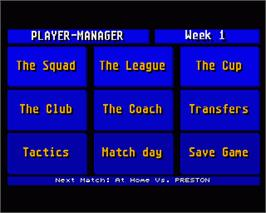 In game image of Player Manager on the Commodore Amiga.