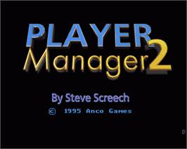 In game image of Player Manager 2 on the Commodore Amiga.