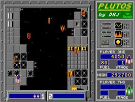 In game image of Plutos on the Commodore Amiga.