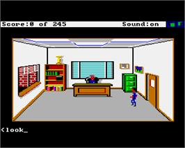 In game image of Police Quest: In Pursuit of the Death Angel on the Commodore Amiga.
