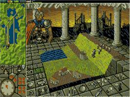 In game image of Powermonger on the Commodore Amiga.