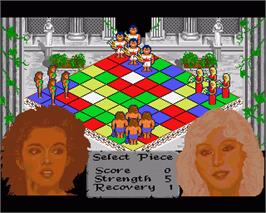 In game image of Powerplay: The Game of the Gods on the Commodore Amiga.