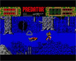 In game image of Predator 2 on the Commodore Amiga.