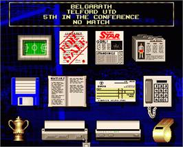 In game image of Premier Manager on the Commodore Amiga.