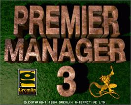 In game image of Premier Manager 3 on the Commodore Amiga.