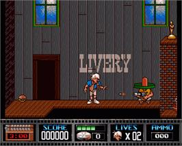 In game image of Premiere on the Commodore Amiga.