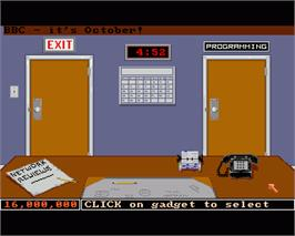 In game image of Prime Time on the Commodore Amiga.
