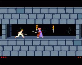 In game image of Prince of Persia on the Commodore Amiga.