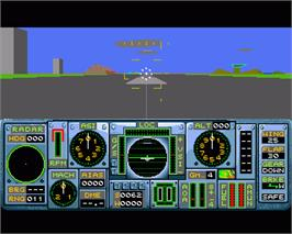 In game image of ProFlight on the Commodore Amiga.