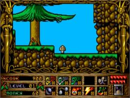 In game image of Prophecy on the Commodore Amiga.